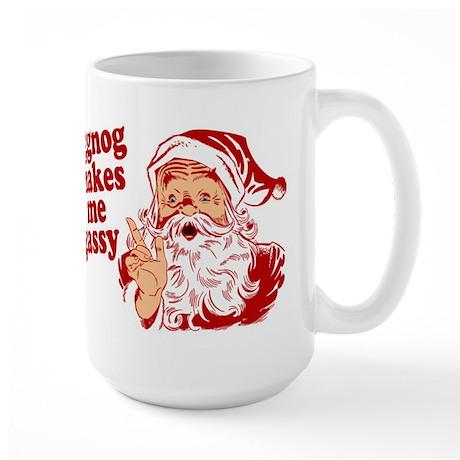 Eggnog Makes Me Gassy Large Mug