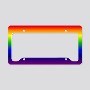 Rainbow License Plate Holder