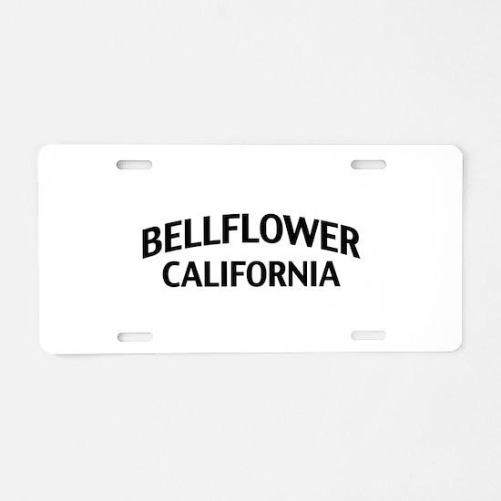 Bellflower California Aluminum License Plate