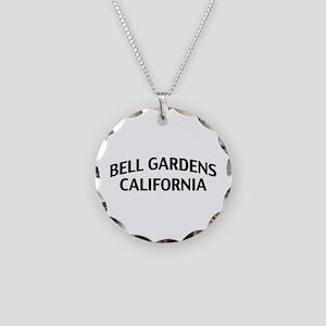 Bell Gardens California Necklace Circle Charm