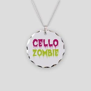 Cello Zombie Necklace Circle Charm