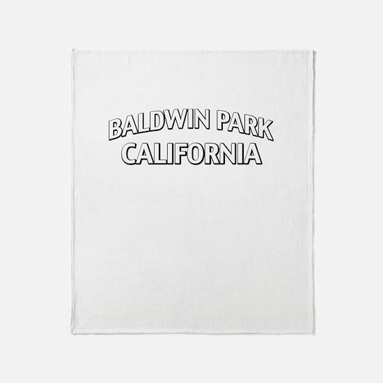 Baldwin Park California Throw Blanket