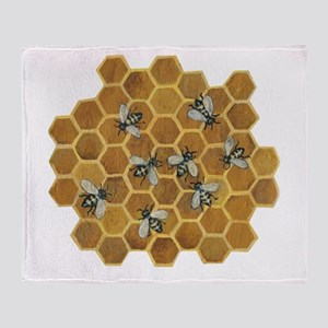 Honey Bees Throw Blanket