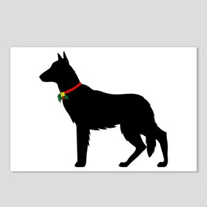 Christmas or Holiday German Shepherd Silhouette Po