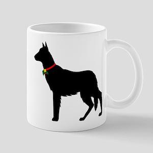 Christmas or Holiday German Shepherd Silhouette Mu
