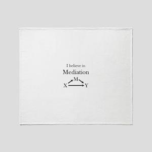 I believe in Mediation Throw Blanket