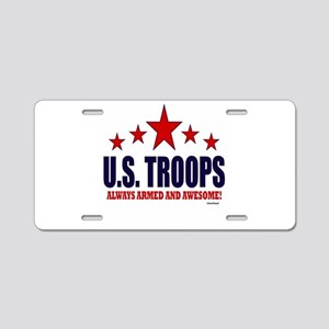 U.S. Troops Always Armed An Aluminum License Plate