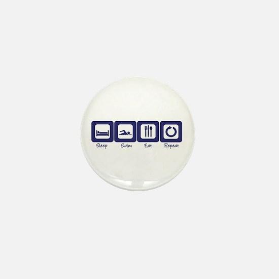 Sleep- Swim- Eat- Repeat Mini Button