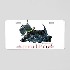 Scottie Squirrel Patrol Aluminum License Plate