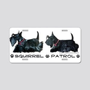 Scottie Squirrel Patrol Terri Aluminum License Pla
