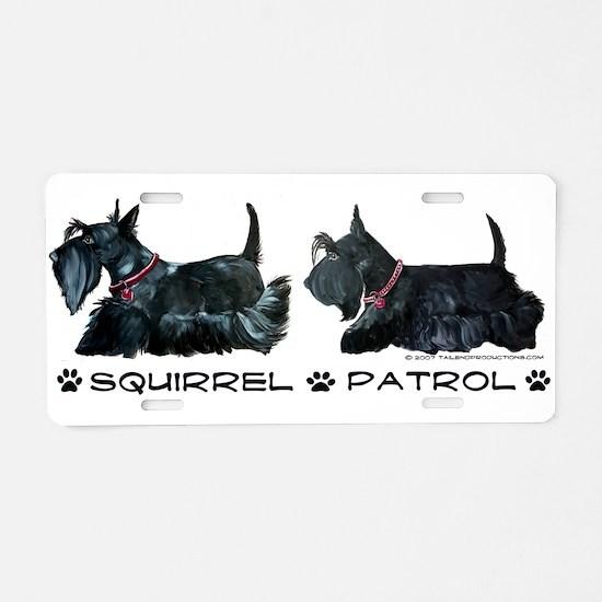 Scottie Squirrel Patrol Terri Aluminum License Pla