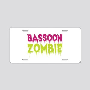 Bassoon Zombie Aluminum License Plate