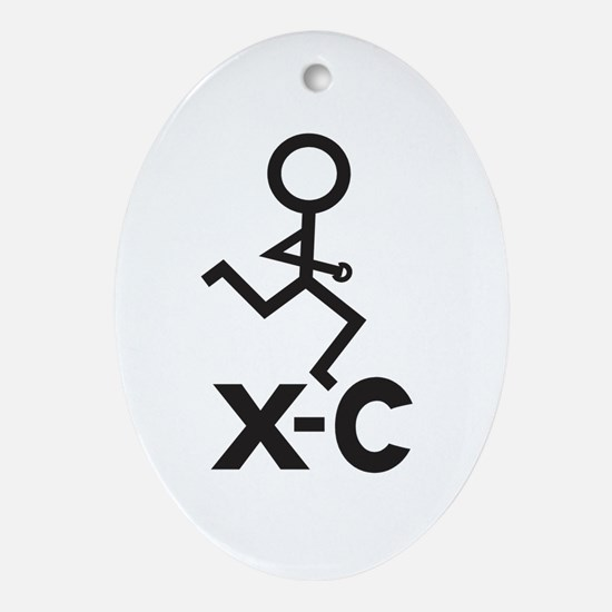 Cross Country X-C Ornament (Oval)