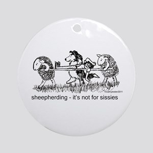 Sheepherding Sissies/Sheltie Ornament (Round)
