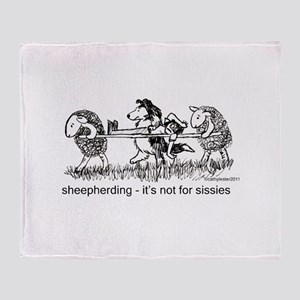 Sheepherding Sissies/Sheltie Throw Blanket