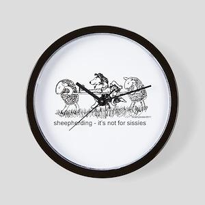 Sheepherding Sissies/Sheltie Wall Clock