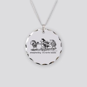 Sheepherding Sissies/Sheltie Necklace Circle Charm