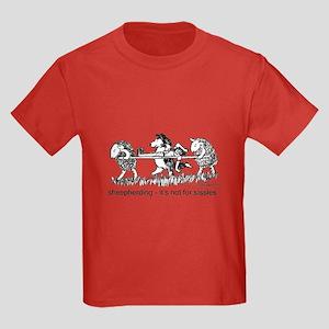 Sheepherding Sissies/Sheltie Kids Dark T-Shirt