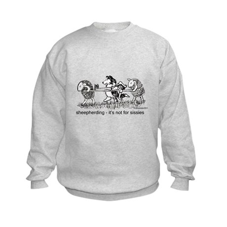 Sheepherding Sissies/Sheltie Kids Sweatshirt