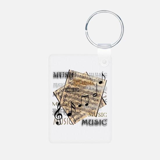 Vintage Music Aluminum Photo Keychain