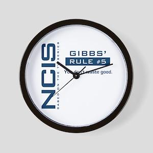 NCIS Gibbs' Rule #5 Wall Clock