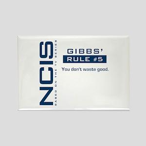 NCIS Gibbs' Rule #5 Rectangle Magnet