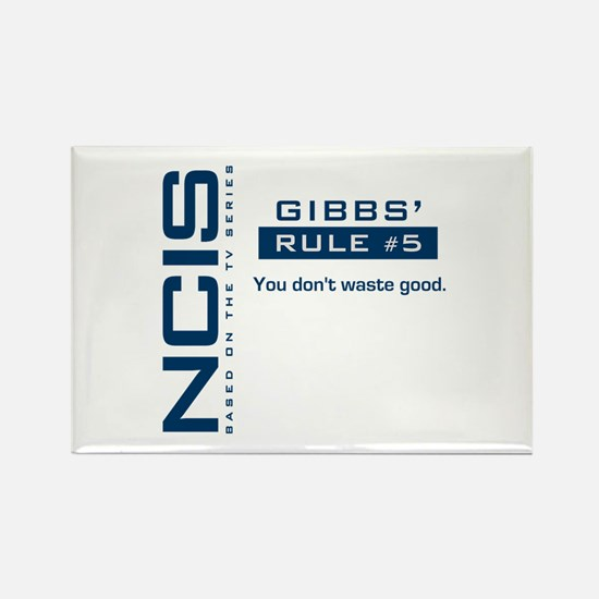 NCIS Gibbs' Rule #5 Rectangle Magnet