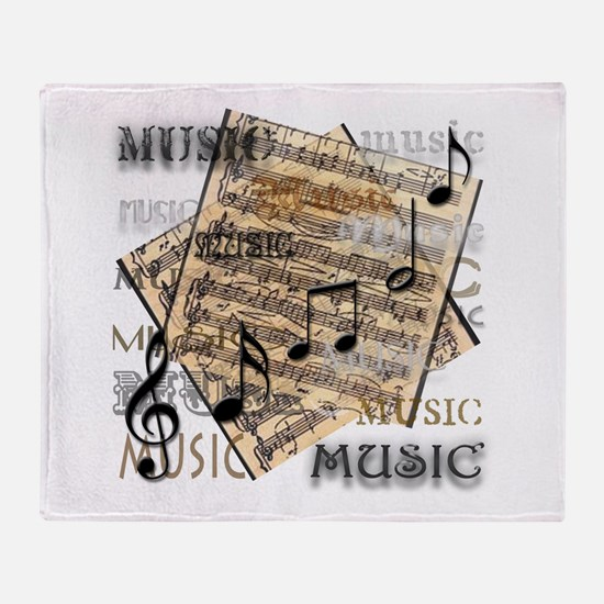 Vintage Music Throw Blanket