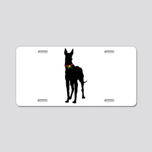 Christmas or Holiday Great Dane Silhouette Aluminu