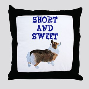 Short and Sweet tri Throw Pillow