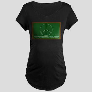 Montessori Peace Maternity Dark T-Shirt