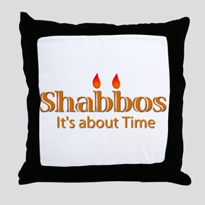 Shabbos It's About Time Throw Pillow