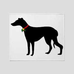 Christmas or Holiday Greyhound Silhouette Stadium