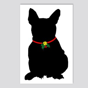 Christmas or Holiday French Bulldog Silhouette Pos