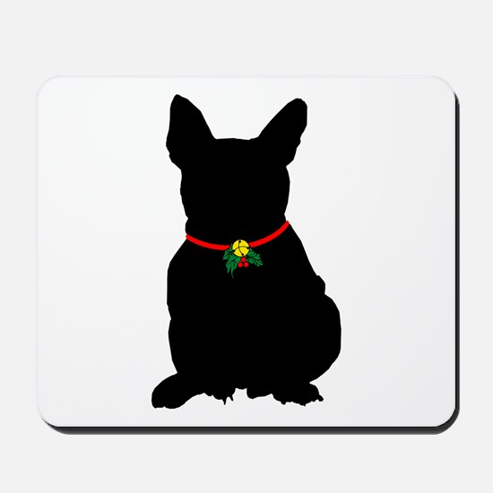 Christmas or Holiday French Bulldog Silhouette Mou