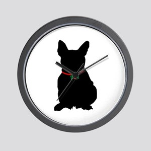 Christmas or Holiday French Bulldog Silhouette Wal