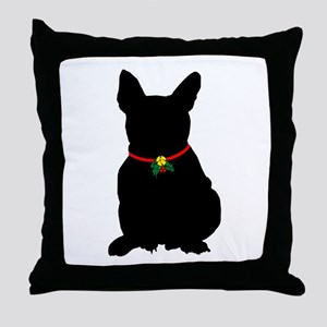 Christmas or Holiday French Bulldog Silhouette Thr