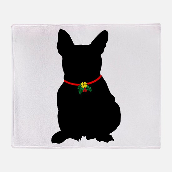 Christmas or Holiday French Bulldog Silhouette St