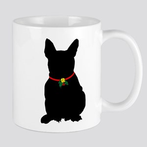 Christmas or Holiday French Bulldog Silhouette Mug