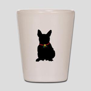 Christmas or Holiday French Bulldog Silhouette Sho