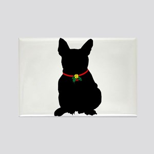 Christmas or Holiday French Bulldog Silhouette Rec