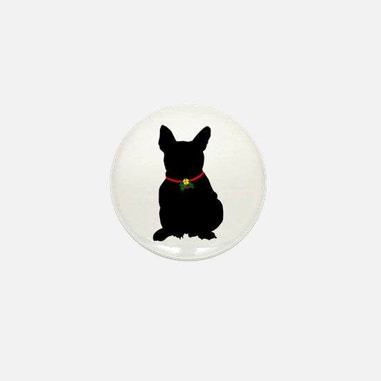Christmas or Holiday French Bulldog Silhouette Min