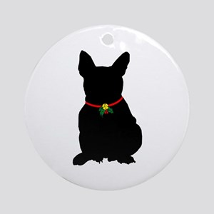 Christmas or Holiday French Bulldog Silhouette Orn