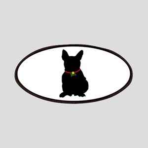 81e2ede69c1 Patches. Christmas or Holiday French Bulldog Silhouette Pat