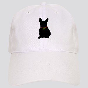 Christmas or Holiday French Bulldog Silhouette Cap