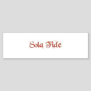 Sola Fide Sticker (Bumper)