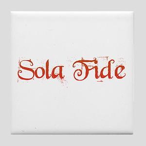 Sola Fide Tile Coaster
