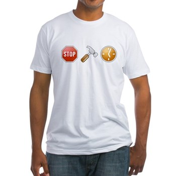 Stop - Hammer - Time Fitted T-Shirt