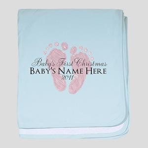 Sweet Footprints - Baby's Fir baby blanket