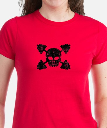 Weightlifting Skull Women's Dark T-Shirt